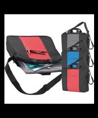 Black polyester shoulder bag