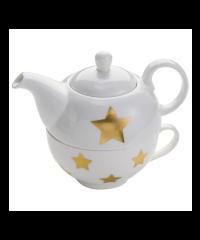 Tea set with a teacup and pot
